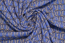 Сорочка набивная зайцы на голубом